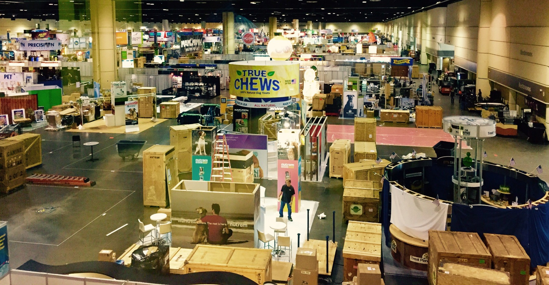 By tomorrow, the Global Pet Expo trade show floor  will be filled with the latest & greatest pet supplies and a ton of very excited pet store owners.