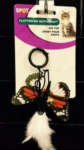 New cat toys with butterflies at B&B Pet Stop