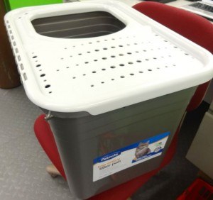 NEW PRODUCT for cats:  top entry litter box