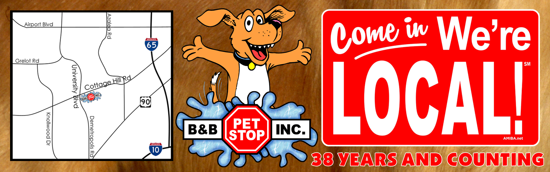 B&B Pet Stop is your local pet store